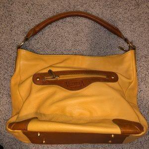Valentina Mustard Shoulder Bag